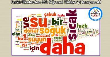 Farkli Ulkelerden 550 Ogrenci Turkiye'yi Taniyacak